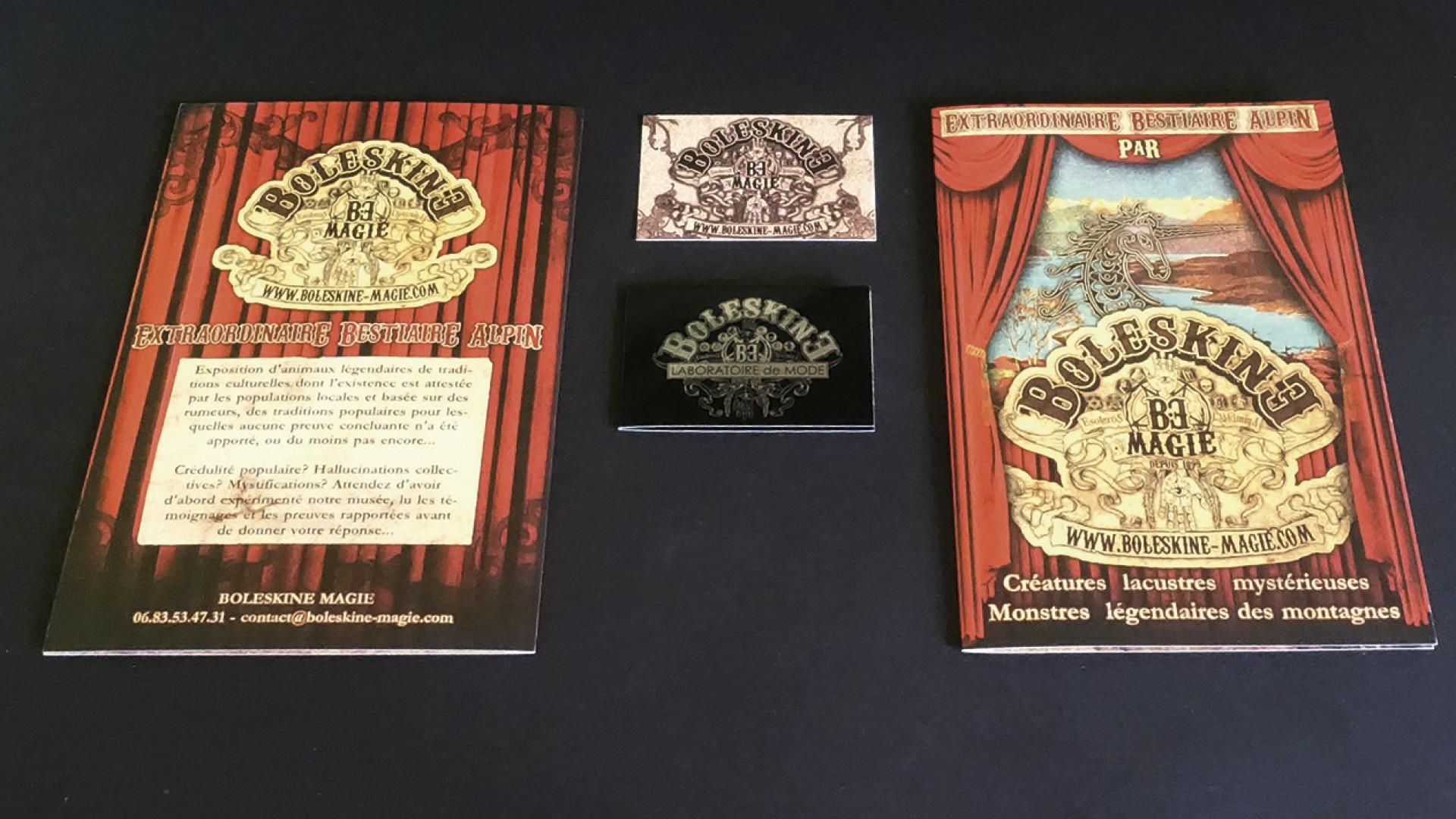 Boleskine Magie Brochures Carte De Visites